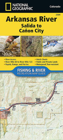 National Geographic - Arkansas River Salida to Canon City 2304 Map
