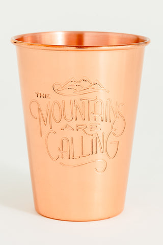 MOUNTAINS ARE CALLING COPPER TUMBLER