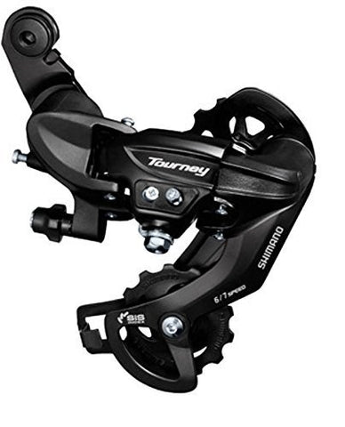 Shimano Tourney RD-TY300-SGS Rear Derailleur - 6,7 Speed, Long Cage, Black, Dropout Claw Hanger