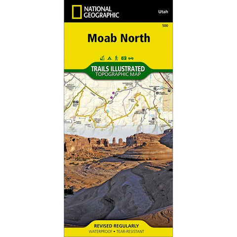 National Geographic Moab North 500 Map