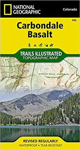National Geographic Map Carbondale Basalt 143