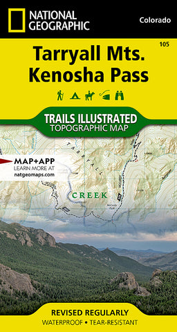 105 - National Geographic - Tarryall Mountains, Kenosha Pass Map