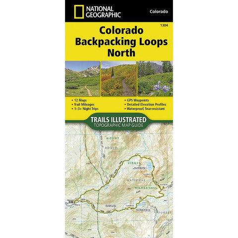 National Geographic Colorado Backpacking Loops North 1304 Map