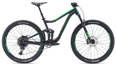 Giant Trance 29er 2 XL Metallic Black/Flash Green Mountain Bike