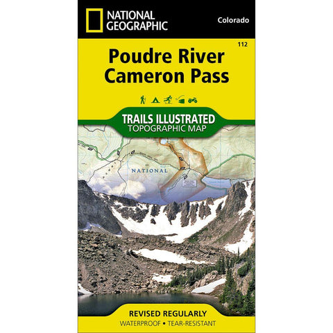 National Geographic Poudre River/Cameron Pass 112 Map