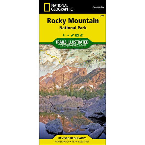 National Geographic Rocky Mountain National Park Map 200