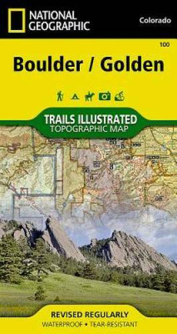 National Geographic 100 -  Boulder / Golden Map 100