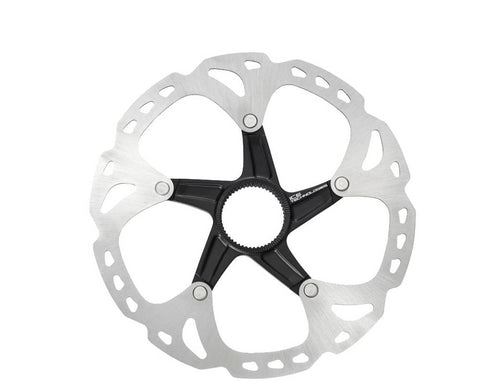 Shimano Deore XT SM-RT81-S Disc Brake Rotor - 160mm, Center Lock, Silver/Black