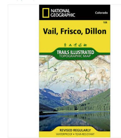 National Geographic Vail, Frisco, Dillon 108 map