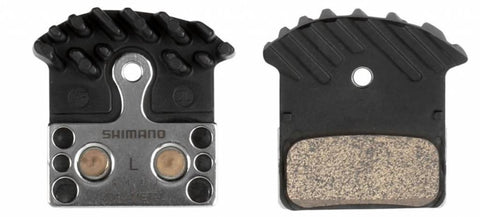 Shimano J04C Metal Disc Brake Pad and Spring with Fin for XTR M9020 M985, XT M8000, SLX M675, Road R517, Deore M615