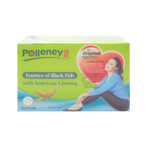 Polleney, Essence of Black Fish, with American Ginseng, 70 ml x 6 bottles