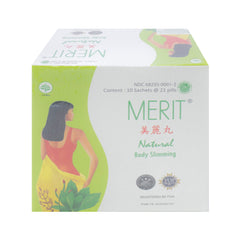 Merit, Natural Body Slimming, 21 pills X 10 sachets