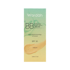 Wardah, BB Everyday Cream SPF 30, Natural, 15 ml