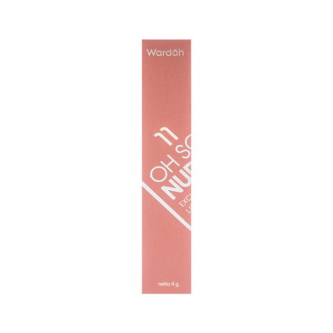 Wardah, Exclusive Matte Lip Cream, 11 Oh So Nude, 4 g