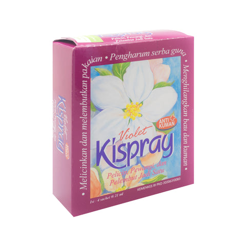 Kispray, Violet, 3 in 1, 24 ml X 4 sachets