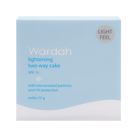 Wardah, 2 Way Cake, Light Feel, 01 Light Beige, 12 g