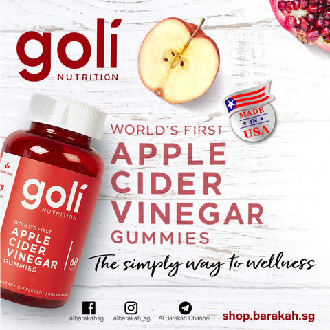 Goli Nutrition, Apple Cider Vinegar Gummies, 60 pieces
