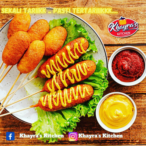 Khayra's Kitchen, Corn Dough, Mozzarella Chicken Frankfurter , 350 g