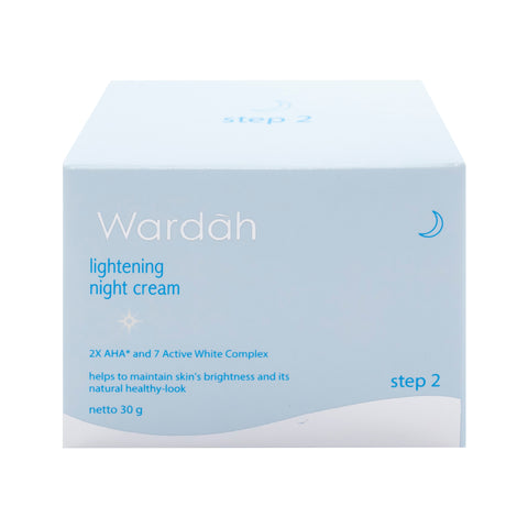 Wardah, Lightening Night Cream, Step 2, 30 g
