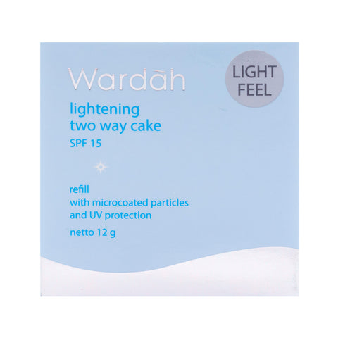 Wardah, 2 Way Cake, Refill Light Feel, 04 Natural, 12 g
