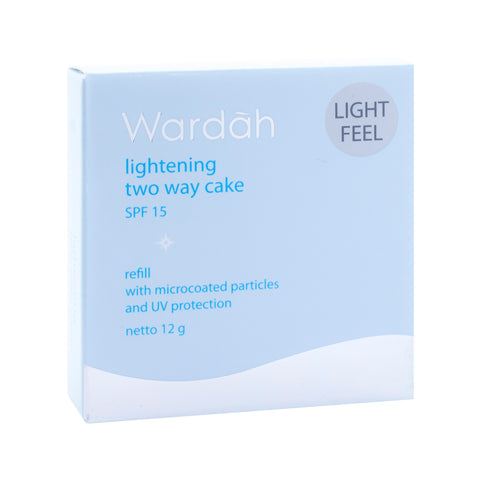 Wardah, 2 Way Cake, Refill Light Feel, 01 Light Beige, 12 g