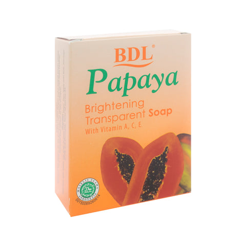 BDL, Papaya Transparent Soap, 90 gm