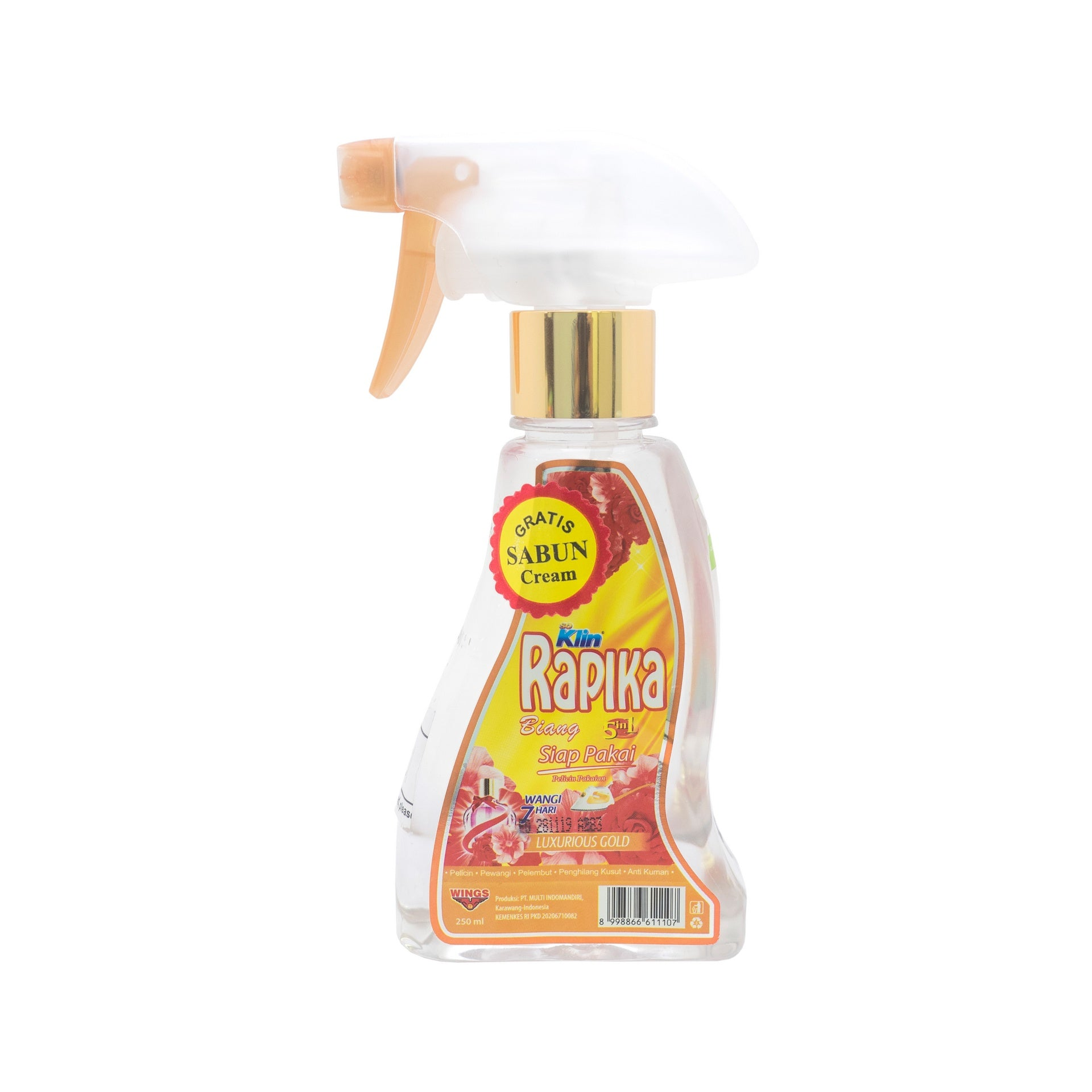 Rapika, Biang 3 in 1, Luxurious Gold Spray, 250 ml