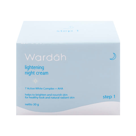 Wardah, Lightening Night Cream, Step 1, 30 g