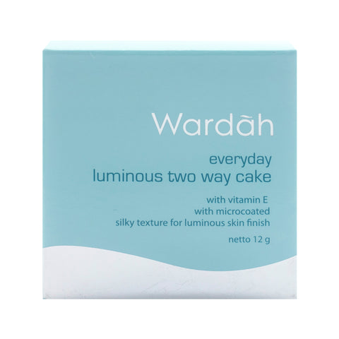Wardah, 2 Way Cake, Refill Everyday Luminous, 02 Beige, 12 g