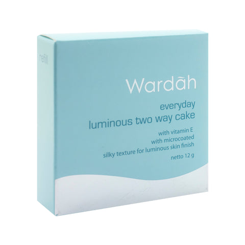Wardah, 2 Way Cake, Refill Everyday Luminous, 01 Light Beige, 12 g