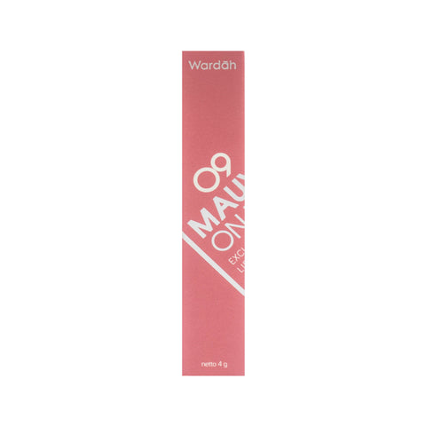 Wardah, Exclusive, Matte Lip Cream, 09 Mauve On, 4 g
