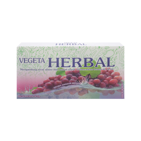 Vegeta, Herbal Anggur Merah, 5 g X 6 sachets