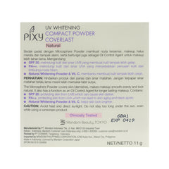 Pixy, Compact Powder Coverlast, Natural, 11 g