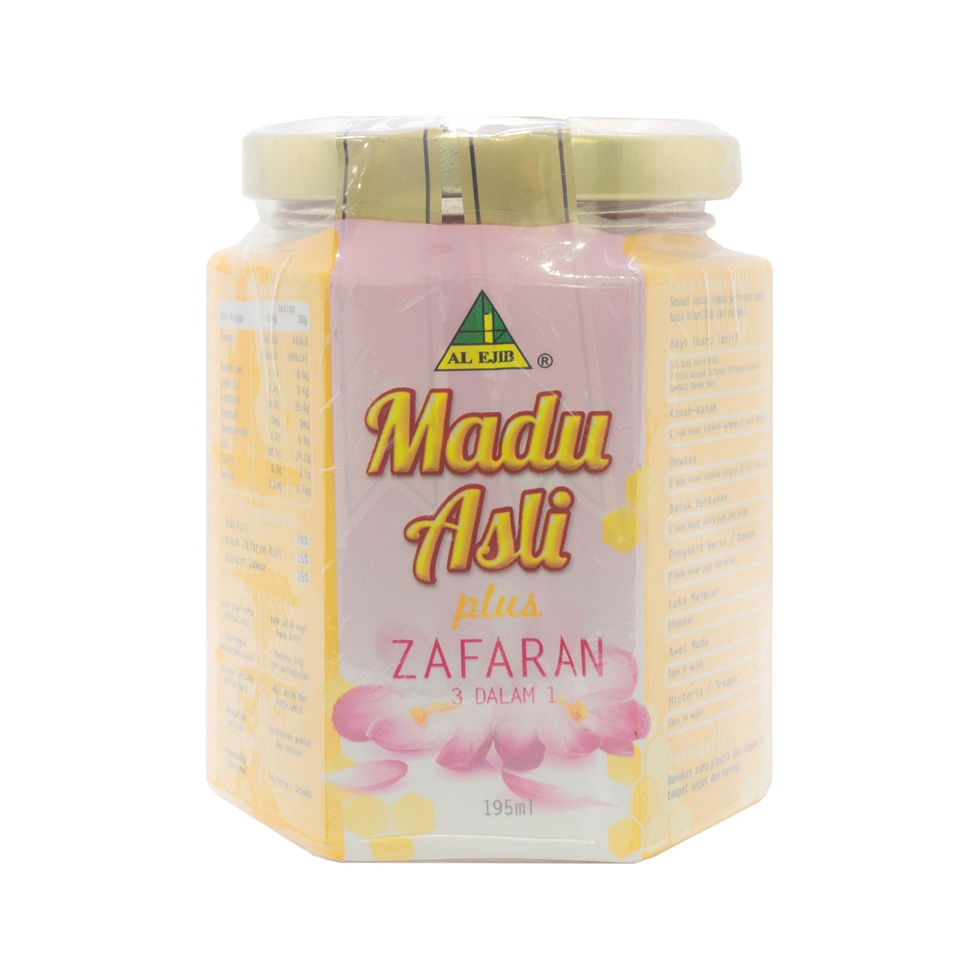 Al Ejib, Madu Asli Plus Zafaran 3 in 1, 195 ml