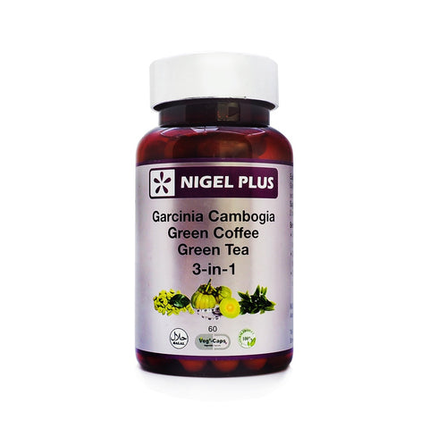 Nigel Plus, Garcinia Cambogia, Green Coffee, Green Tea, 60 veg caps