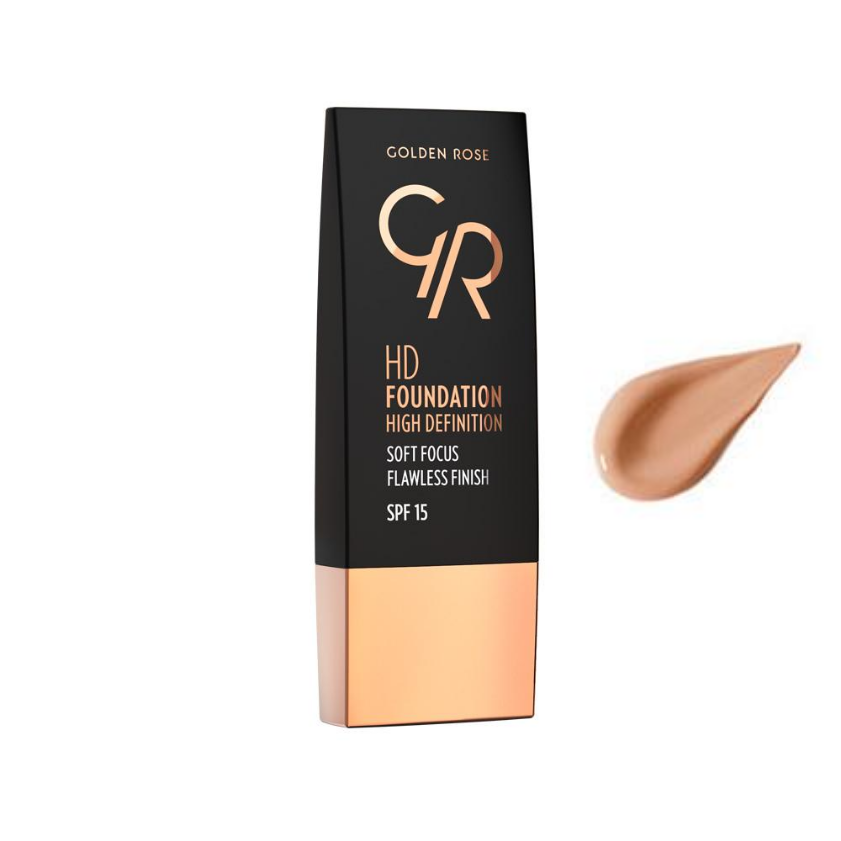 Golden Rose, HD Foundation High Definition SPF15, 116 Cappuccino