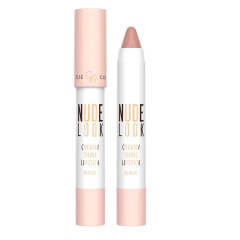 Golden Rose, Nude Look Creamy Shine Lipstick No. 01 Nude, 3.5g