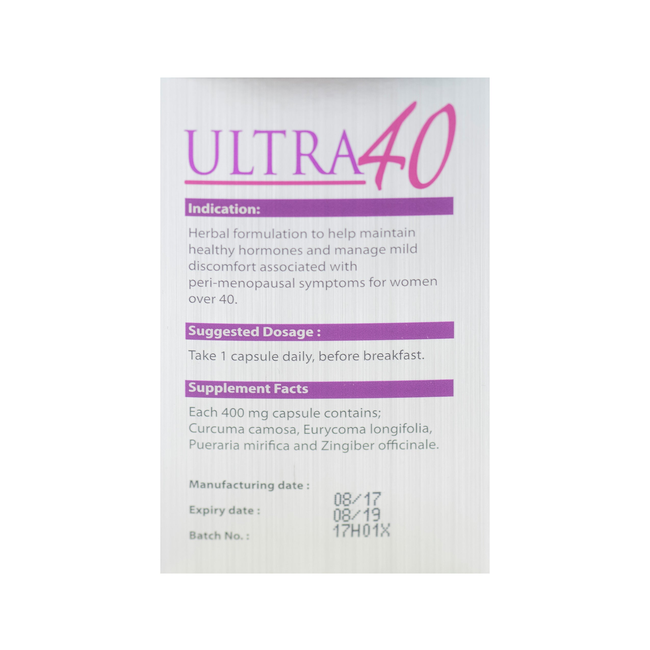 Ultra 40, For Women, 30 capsules