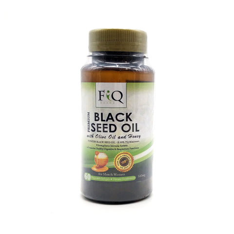 Fiq Herbs, Premium Black Seed Oil Olive & Honey, 60 capsules