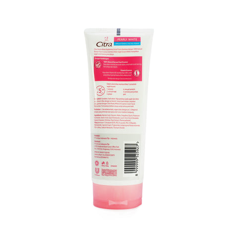 Citra, Pearly White Brightening Facial Foam, 100 g