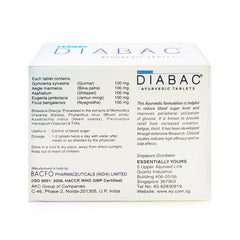 Essentially Yours, Bacfo Diabac, Ayurvedic Tablets, 6 x 10 tablets