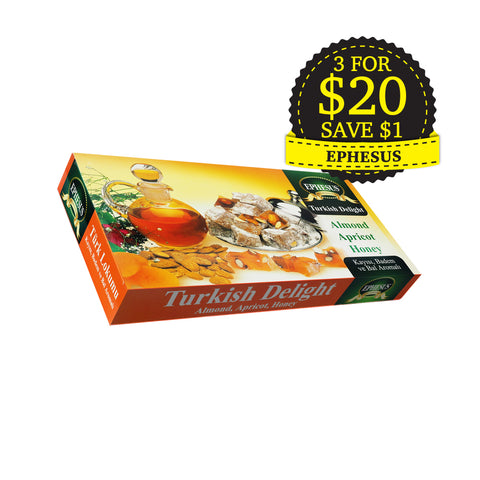 Ephesus, Turkish Delight, Almond, Apricot, Honey, 400 g
