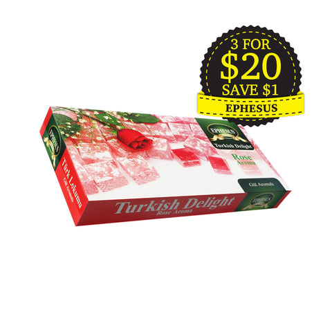 Ephesus, Turkish Delight, Rose, 400 g