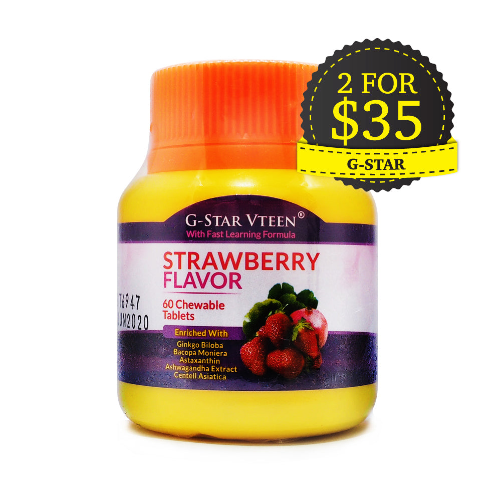G-Star VTeen, Strawberry Flavor, 60 chewable tablets