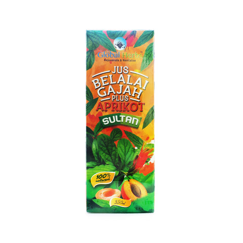 Global Herbs, Jus Sultan Belalai Gajah Plus Aprikot, 350 ml