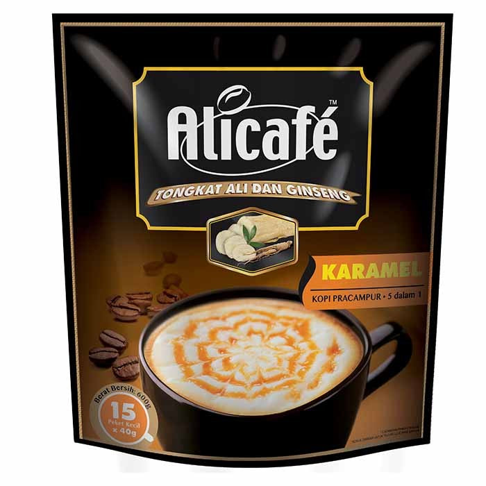 Power Root, Ali Cafe 5 in 1 Caramel, 15 sachets X 40 g
