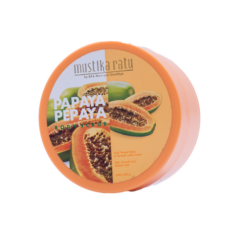Mustika Ratu, Body Scrub, Papaya, 200 ml