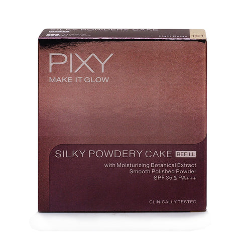 Pixy, Make It Glow, Silky Powdery Refill, 101 Light Beige, 10 g