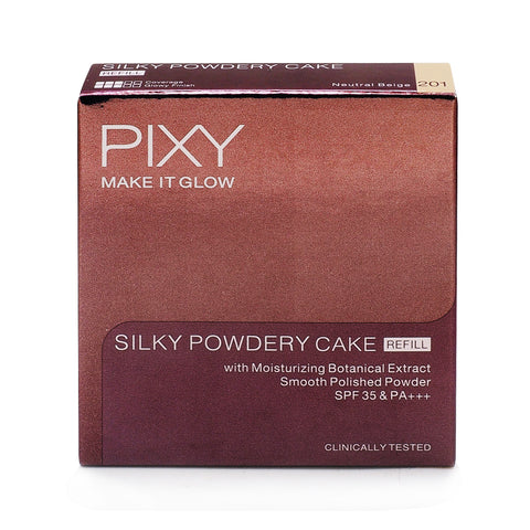 Pixy, Make It Glow, Silky Powdery Refill, 401 Sandy Beige, 10 g