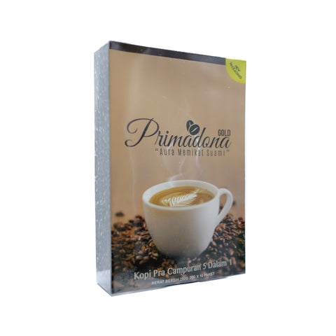 D'Herbs, Primadona Gold Premix Coffee 5 in 1, 10 sachets X 25 g